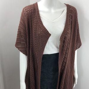Brown everyday crochet cardigan OS